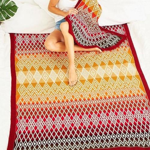 Queen Blanket (groot) CAL Garenpakket 1 Ruby