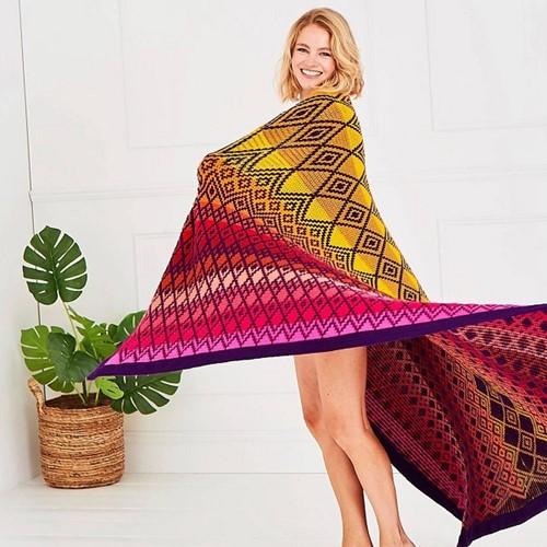 Queen Blanket (groot) CAL Garenpakket 2 Tequila Sunrise