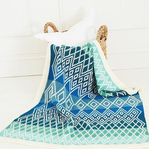 Queen Blanket (klein) CAL Garenpakket 3 Oceania