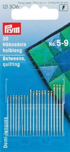 Prym Quilt naalden half-lang Nr.5-9