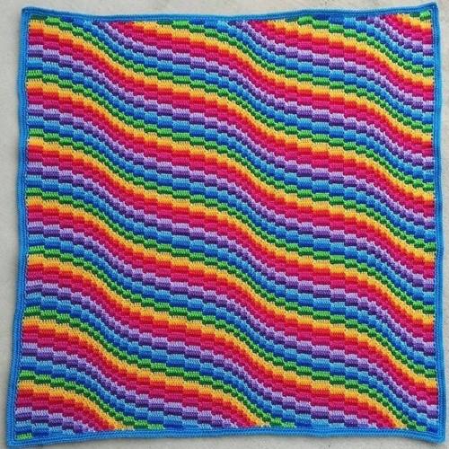 Bargello Blanket MAL Garenpakket 3 Rainbow