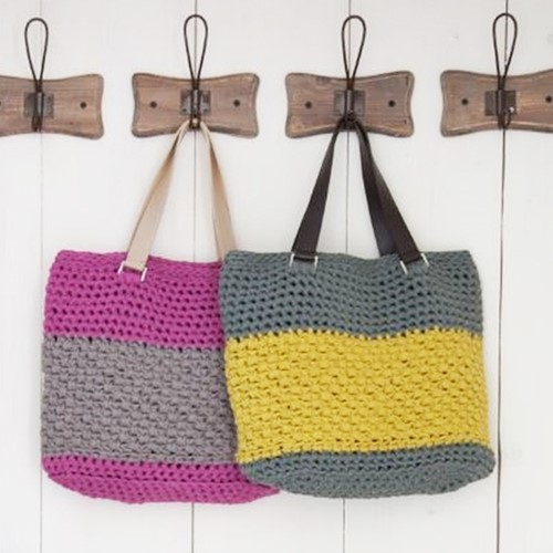 Haakpatroon RibbonXL Valencia Bag