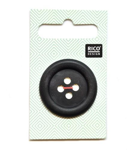Rico knoop mat zwart 34mm