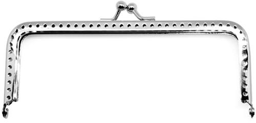 Rico portemonnee knip zilver 9 x 5 cm