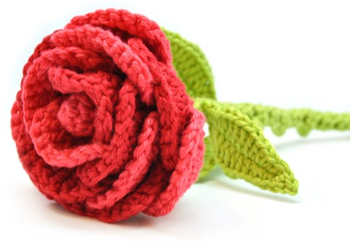 Haakpatroon bloem Roos