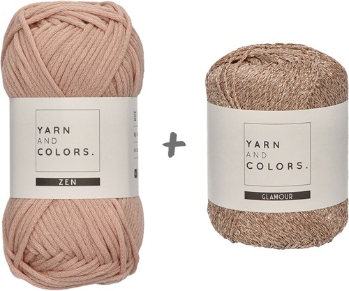 Yarn and Colors Knot a Scarf Breipakket 3 Rosé