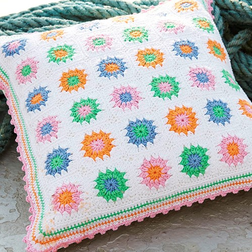 Haakpatroon Catania Granny Square Kussen