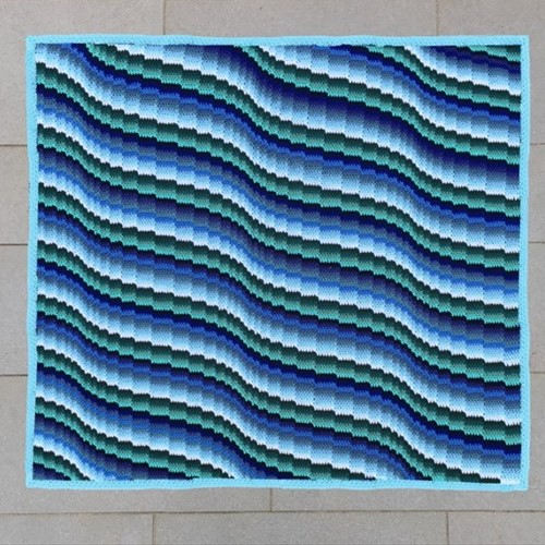 Bargello Blanket MAL Garenpakket 2 Seafoam
