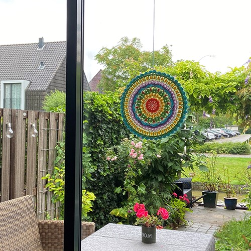 Haakpatroon Mandala Happy