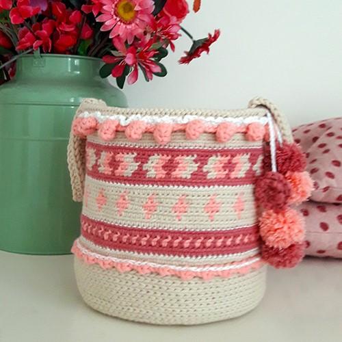 Haakpatroon Cute Crochet Boho Basket