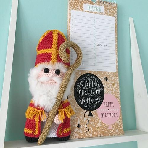 Haakpatroon Sinterklaas Knuffel