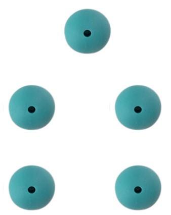 Durable Siliconen Kralen 12mm 5 stuks 325 Dark Green