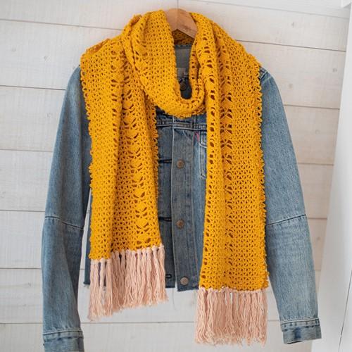 Organic Cotton Sjaal Haakpakket 1 Cosy yellow
