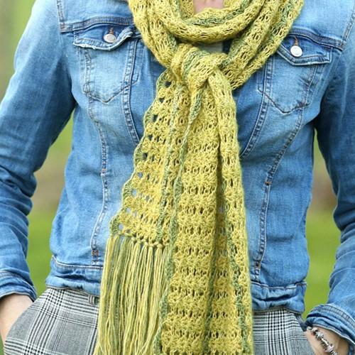 Linda's Lange Lente Sjaal Haakpakket 1 Yellow