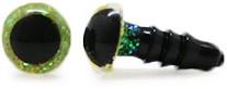 Plastic Veiligheidsogen Sparkle Geel (per paar) 6mm