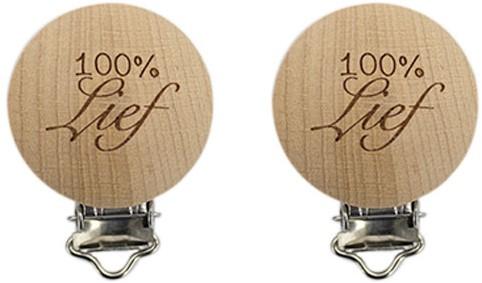 Durable Houten Speenclips 2 stuks 54 100% Lief