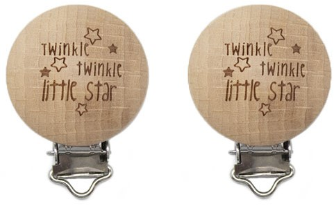 Durable Houten Speenclips 2 stuks 61 Twinkle Twinkle Little Star
