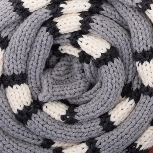 Yarn and Colors Striped Scarf Breipakket 096 Shark Grey