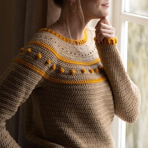Yarn and Colors Sunrise Sweater Haakpakket 1 Limestone M