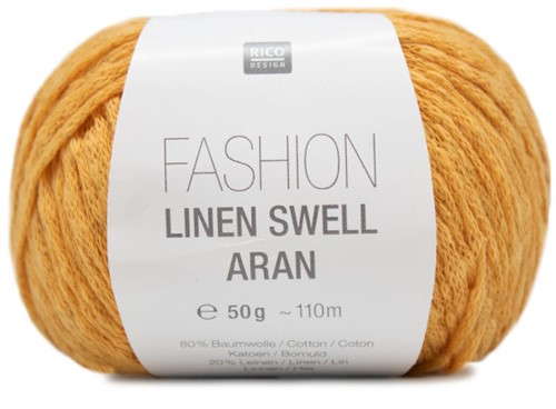 Fashion Linen Swell Aran Top Breipakket 2 44/46 Mustard