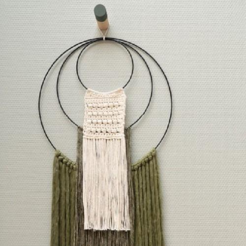 Yarn and Colors Three is a Charm WOW! Muurhanger Pakket 023 Cream / Khaki / Olive