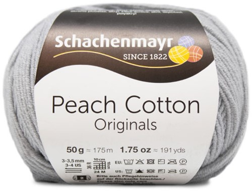 Peach Cotton Top met Ruches Breipakket 2 L Silver