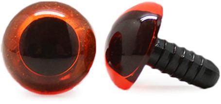 Veiligheidsogen Transparant Oranje (per stuk) 16mm