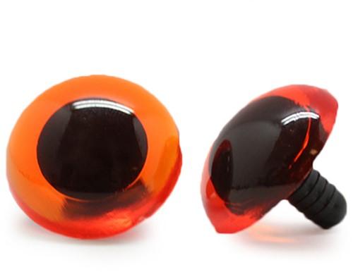Veiligheidsogen Transparant Oranje (per stuk) 24mm