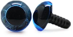 Veiligheidsogen Transparant Blauw (per stuk) 12mm