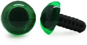 Veiligheidsogen Transparant Groen (per stuk) 10mm