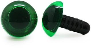Veiligheidsogen Transparant Groen (per stuk) 12mm