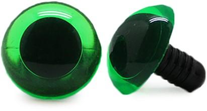 Veiligheidsogen Transparant Groen (per stuk) 14mm