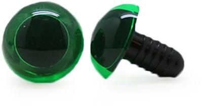 Veiligheidsogen Transparant Groen (per stuk) 15mm