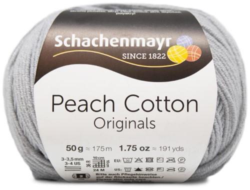 Peach Cotton Ajour Vest Haakpakket 2 L Silver