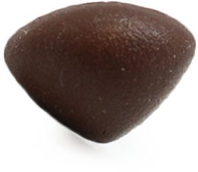 Veiligheidsneus driehoek soft bruin 21mm