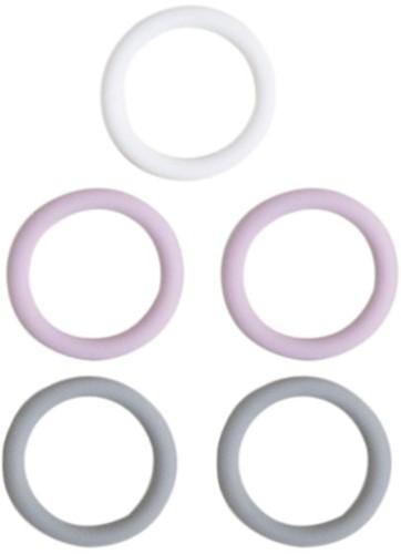 Siliconen Ringen 5 Stuks 02 Lavender Mix