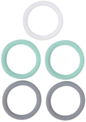 Siliconen Ringen 5 Stuks 03 Mint Mix