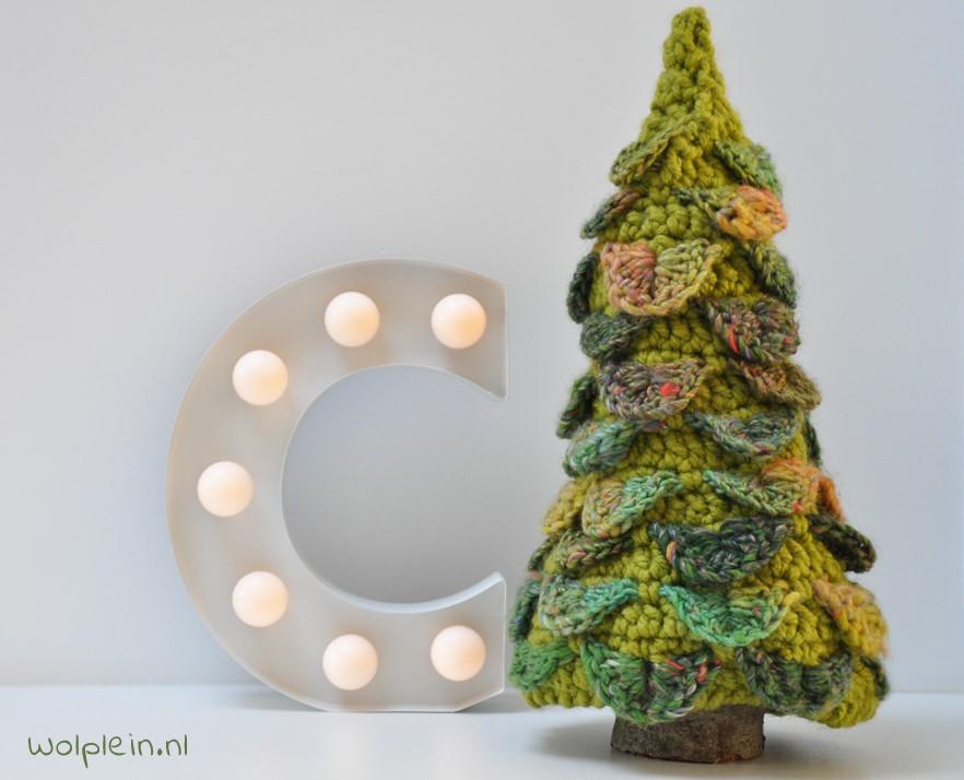 Kerstboom haken met krokodillensteek