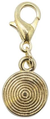 Yarn and Colors Circle Charm 089 Gold