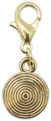 Yarn and Colors Circle Charm Gold