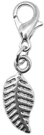 Yarn and Colors Leaf Charm Silver