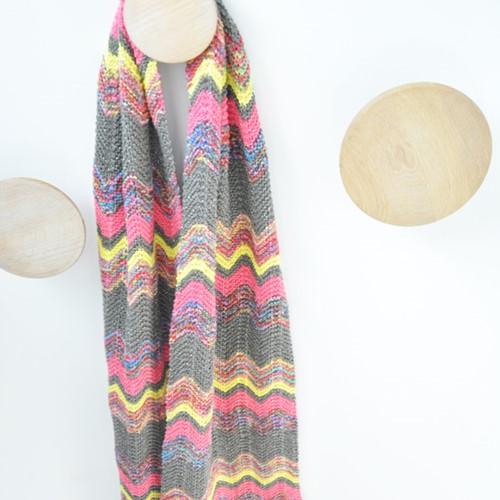 Breipatroon Zigzag sjaal
